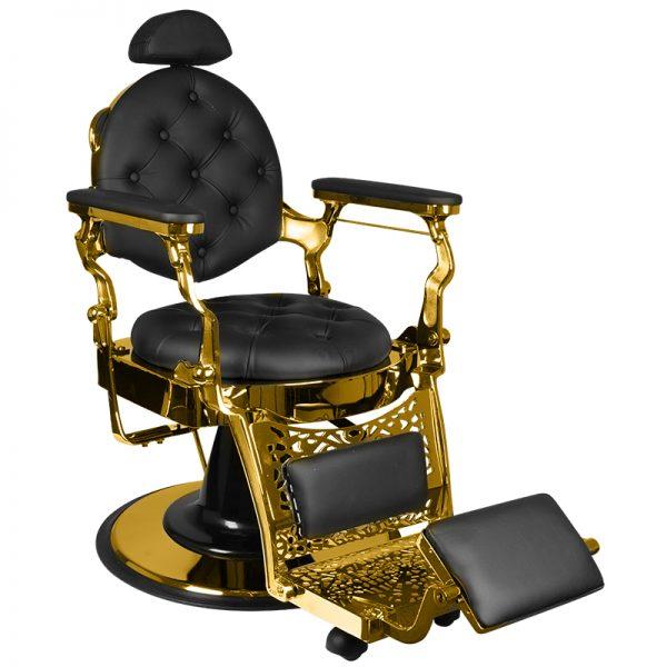 Barber stoel-giulio-gold-black