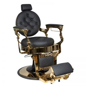 barber stoel-claudius-gold-zwart