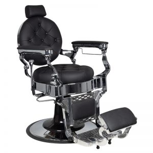 barber stoel-claudius-silver-zwart